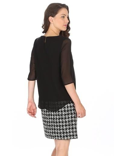 Limon Company Truvar Kol Şifon Elbise Siyah